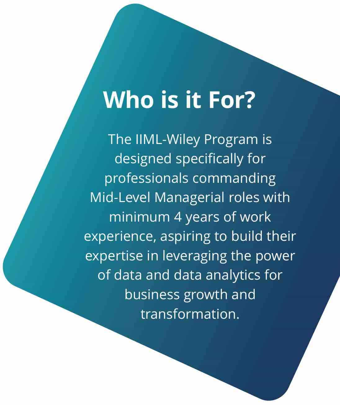 Program for Mid Level Managerial Roles