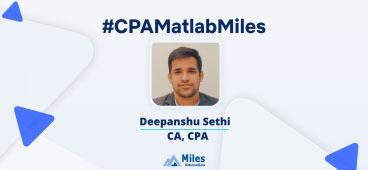 Miles CPA video testimonial by Deepanshu
