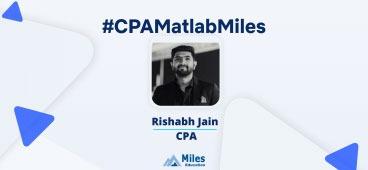 Miles CPA video testimonial by Rishabh