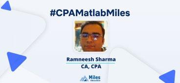 Miles CPA video testimonial by Ramneesh